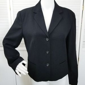 J. Crew Black 100% Wool Blazer